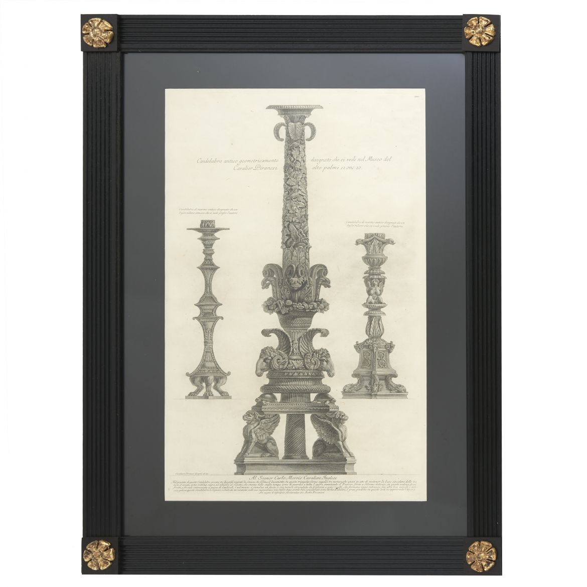Etching Of Three Candelabra