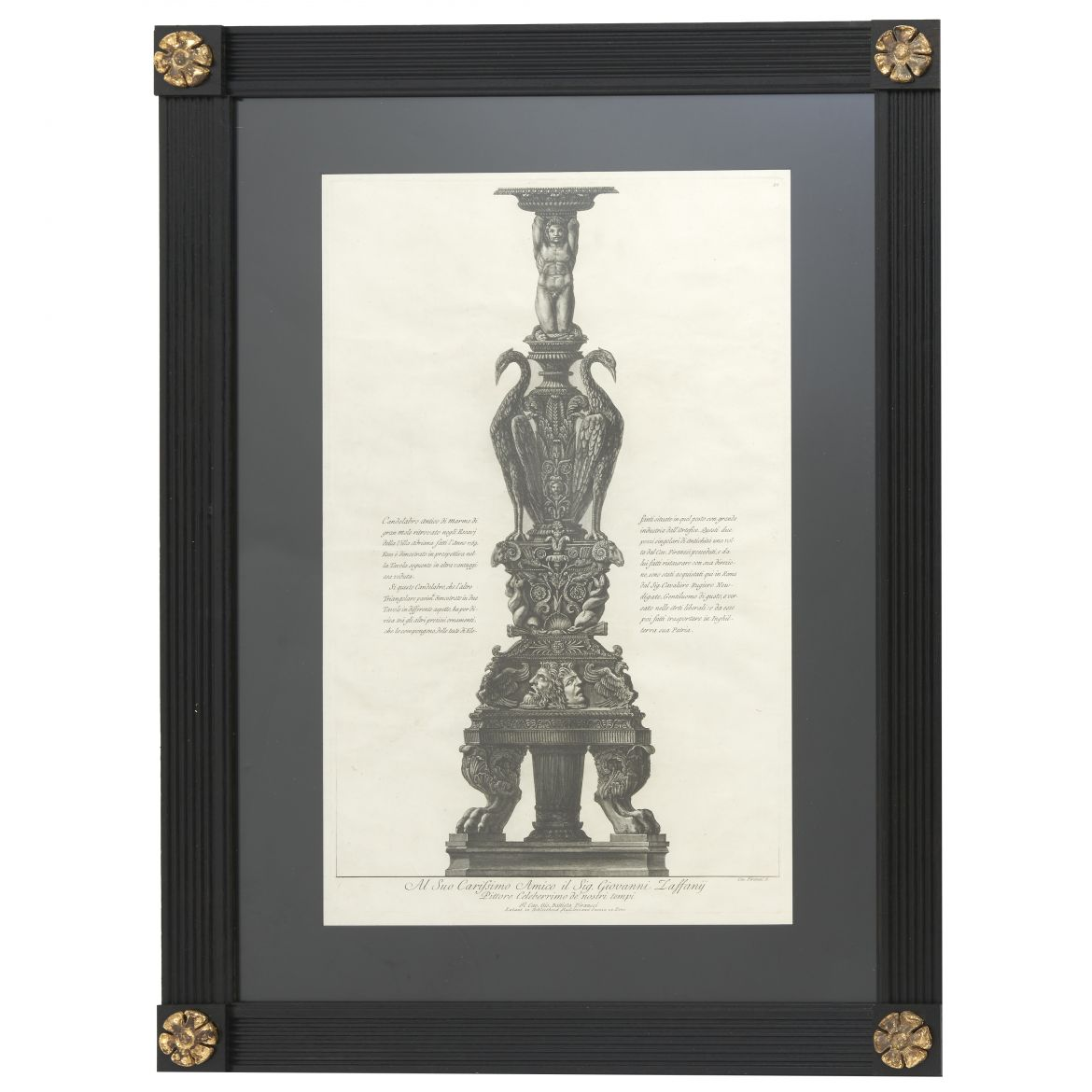 Highly Carved Candelabrum Piranesi Etching