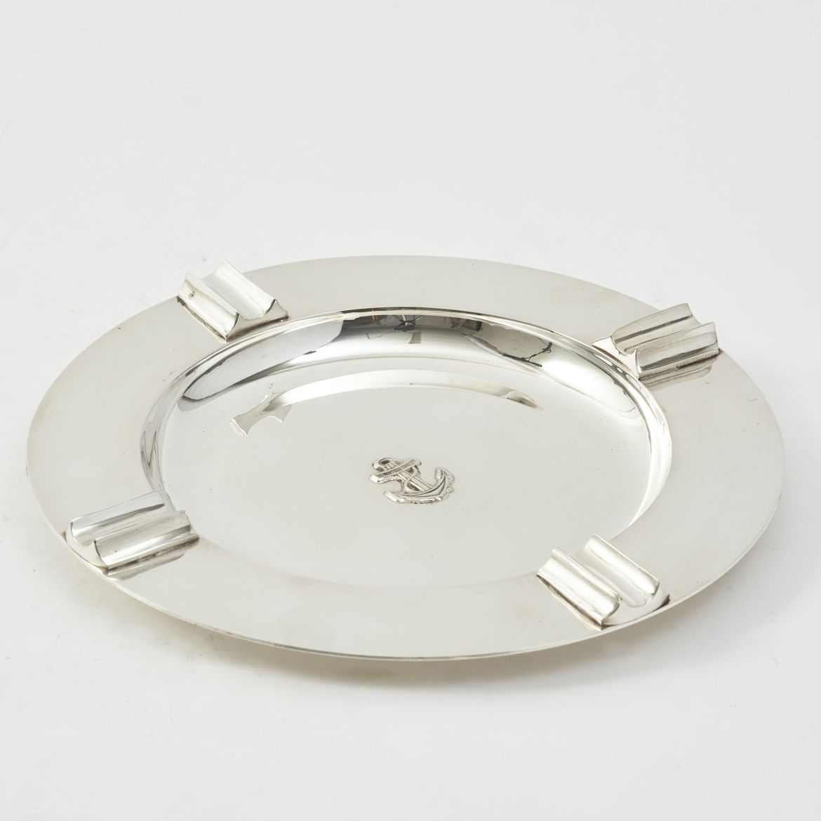 Circular Silver Plate Ashtray