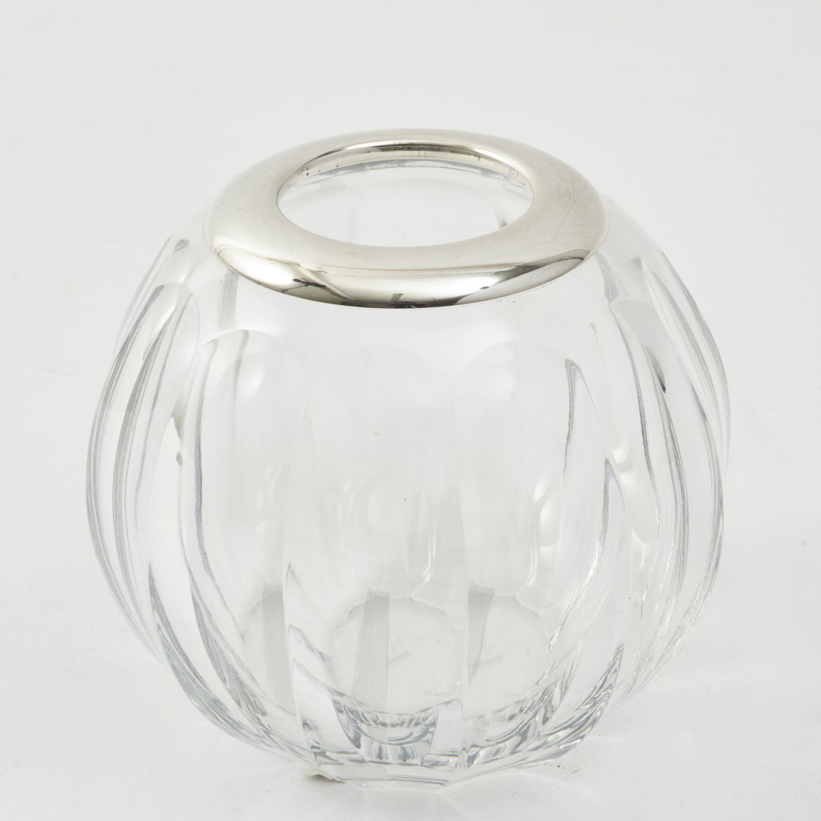 Crystal And Silver Match Holder