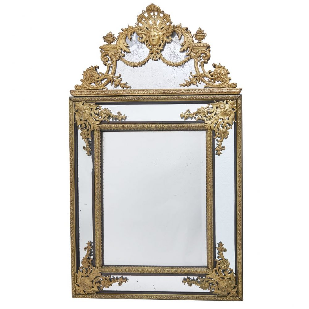 Large French Louis XIV Style Mirror