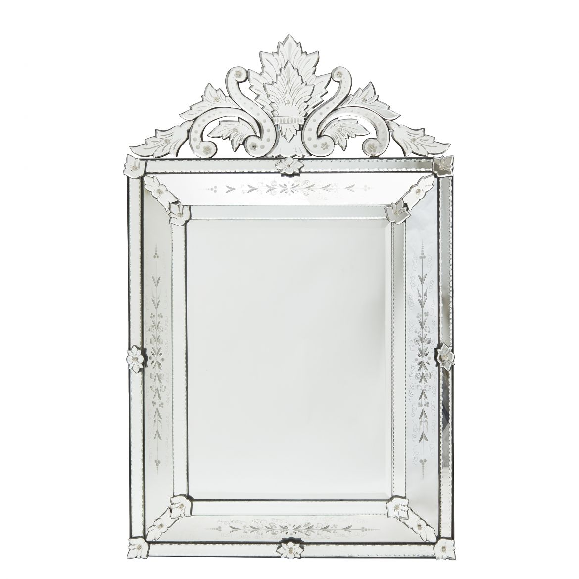 Venetian Style Crested Mirror