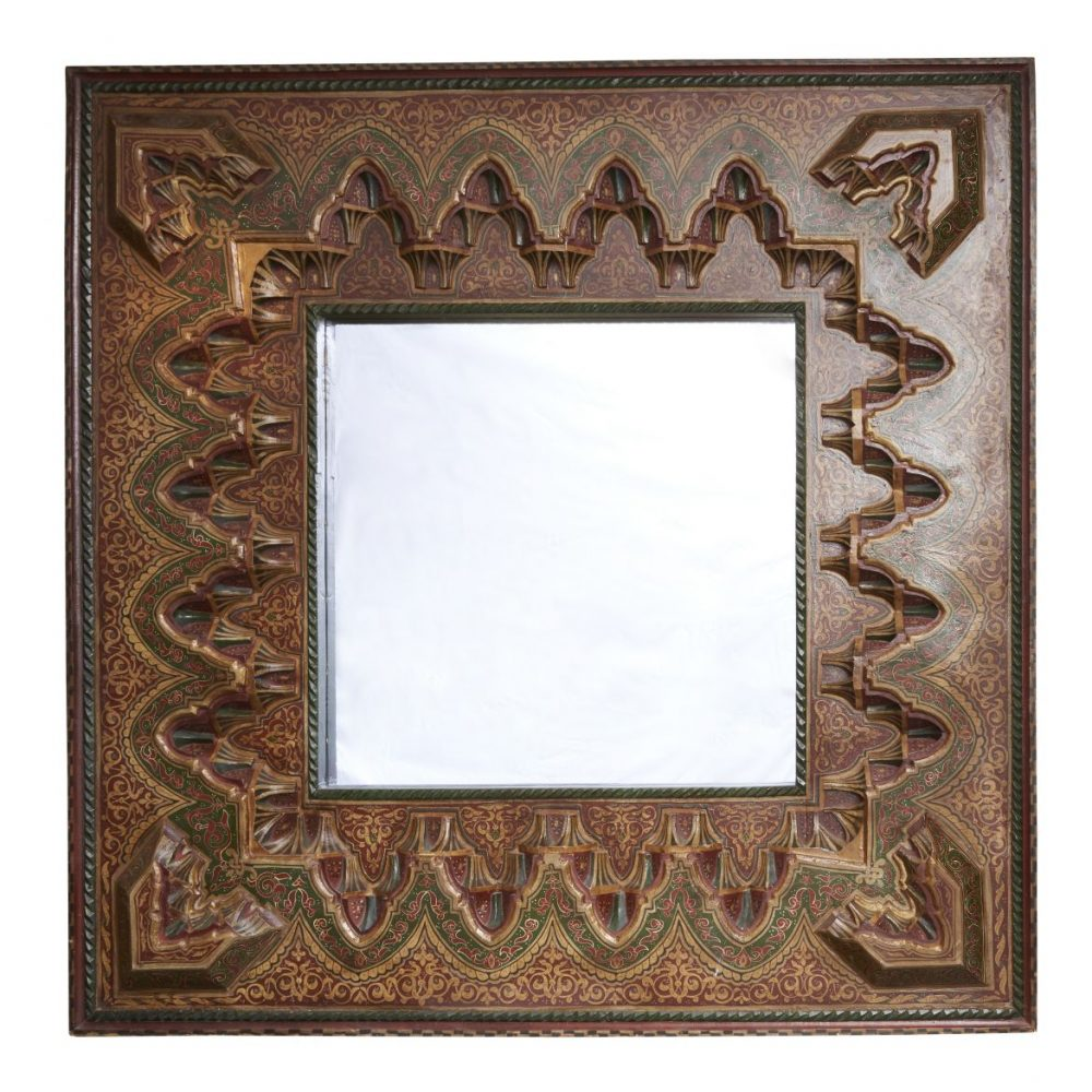 Large Polychrome Moroccan Mirror