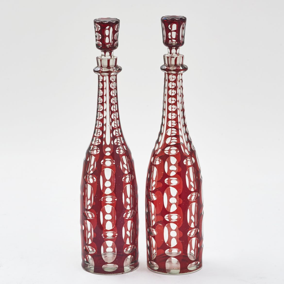 Victorian Red Glass Decanters