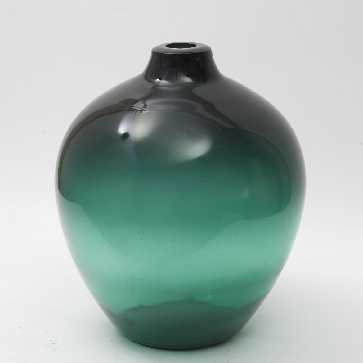 Hadeland Green Glass Vase