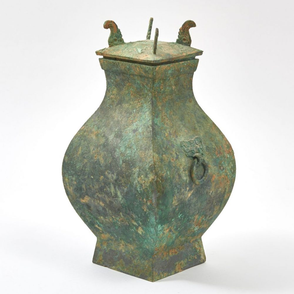 Han Dynasty Bronze Vase And Cover