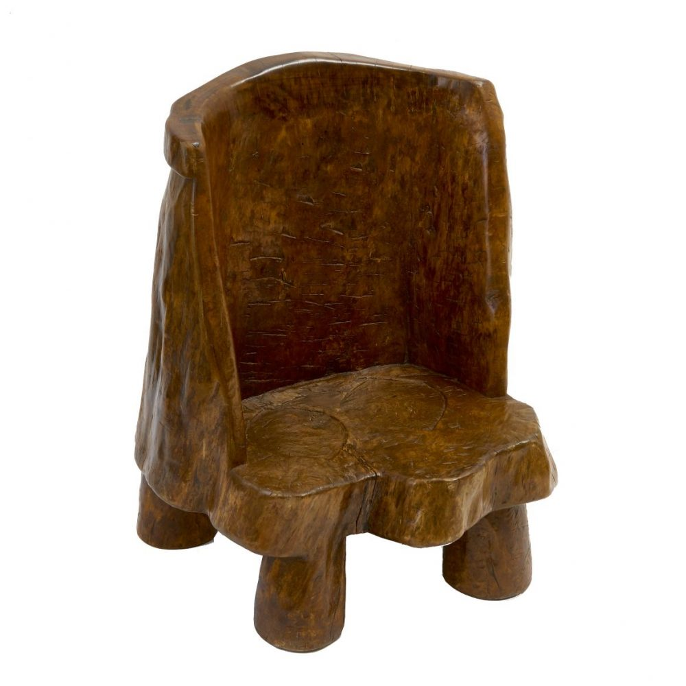 Small Chinese Tree Trunk Chair