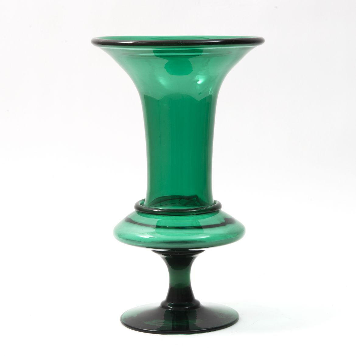 French Green Glass Vase