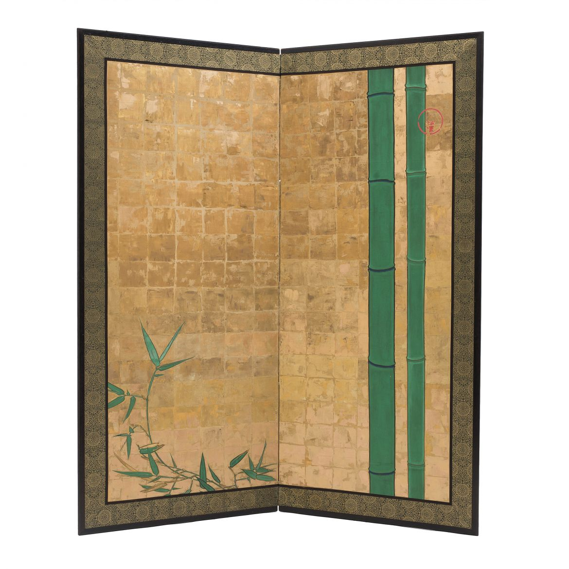 Two Fold Japanese Paper Screen