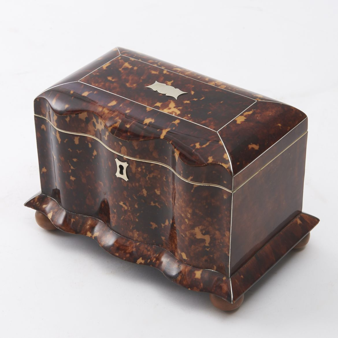 Early Victorian Tortoiseshell Tea Caddy