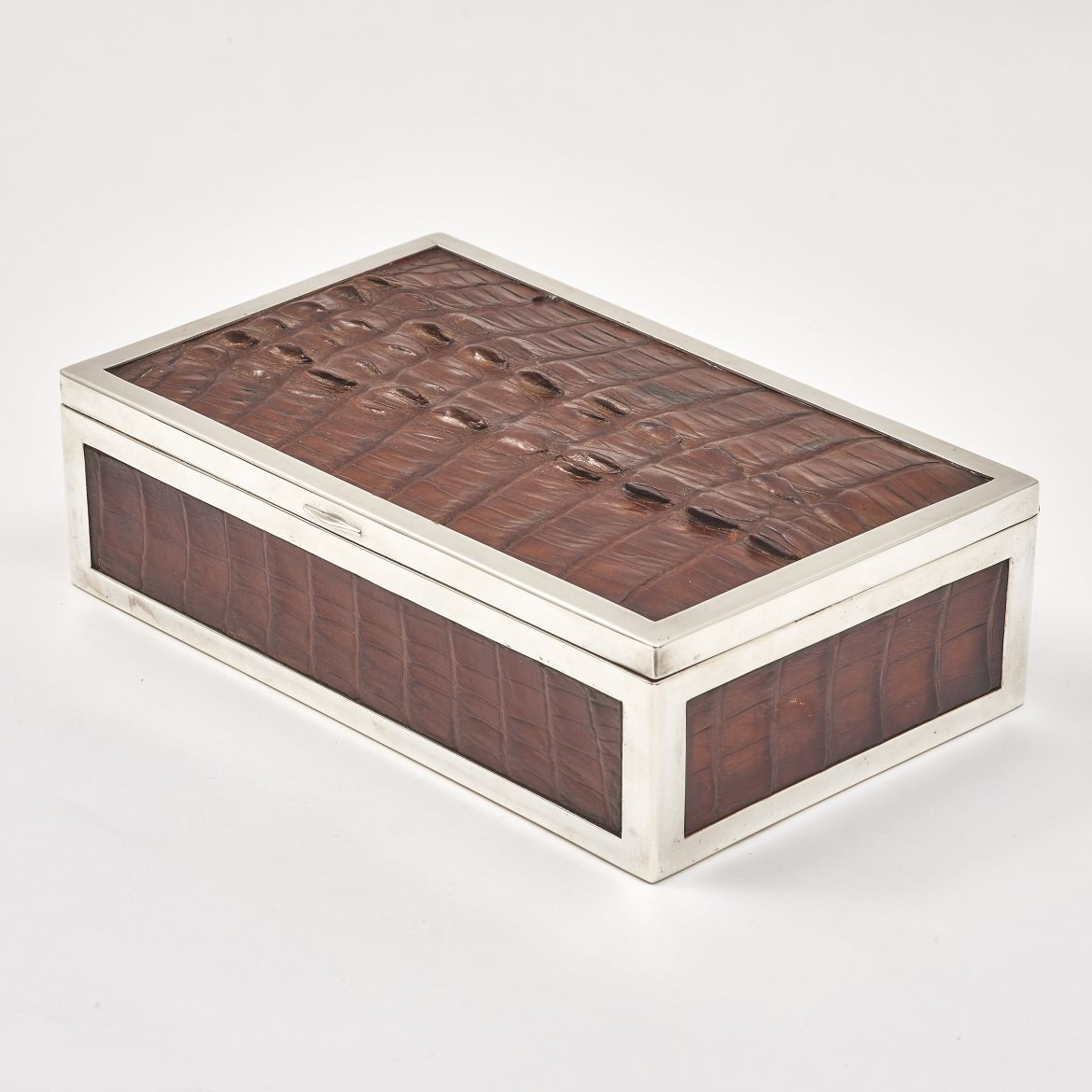 Crocodile Skin Cigar Box