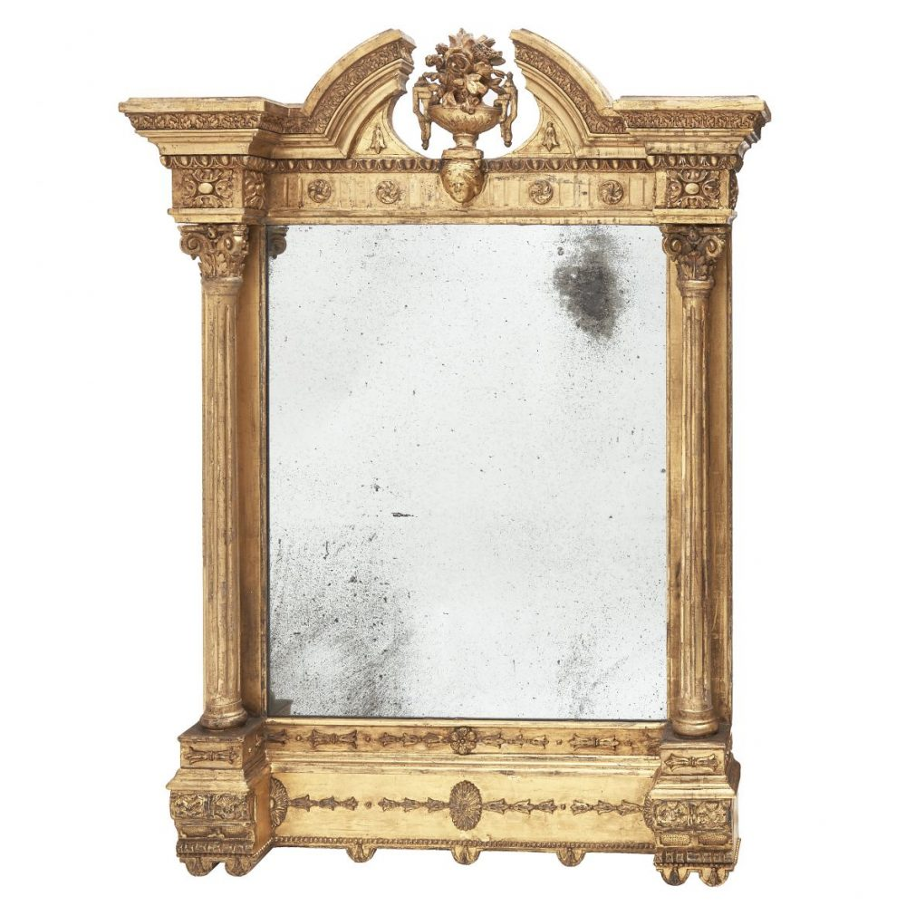 Irish Georgian Giltwood Mirror
