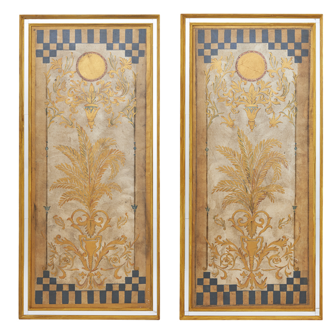Italian 1930s Framed Theatre Panels