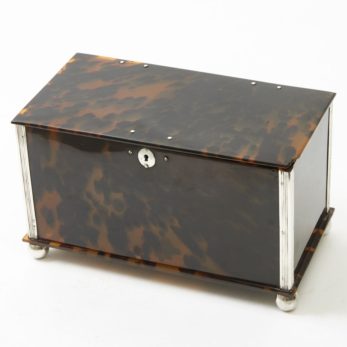 Tortoiseshell and Silver Caddy