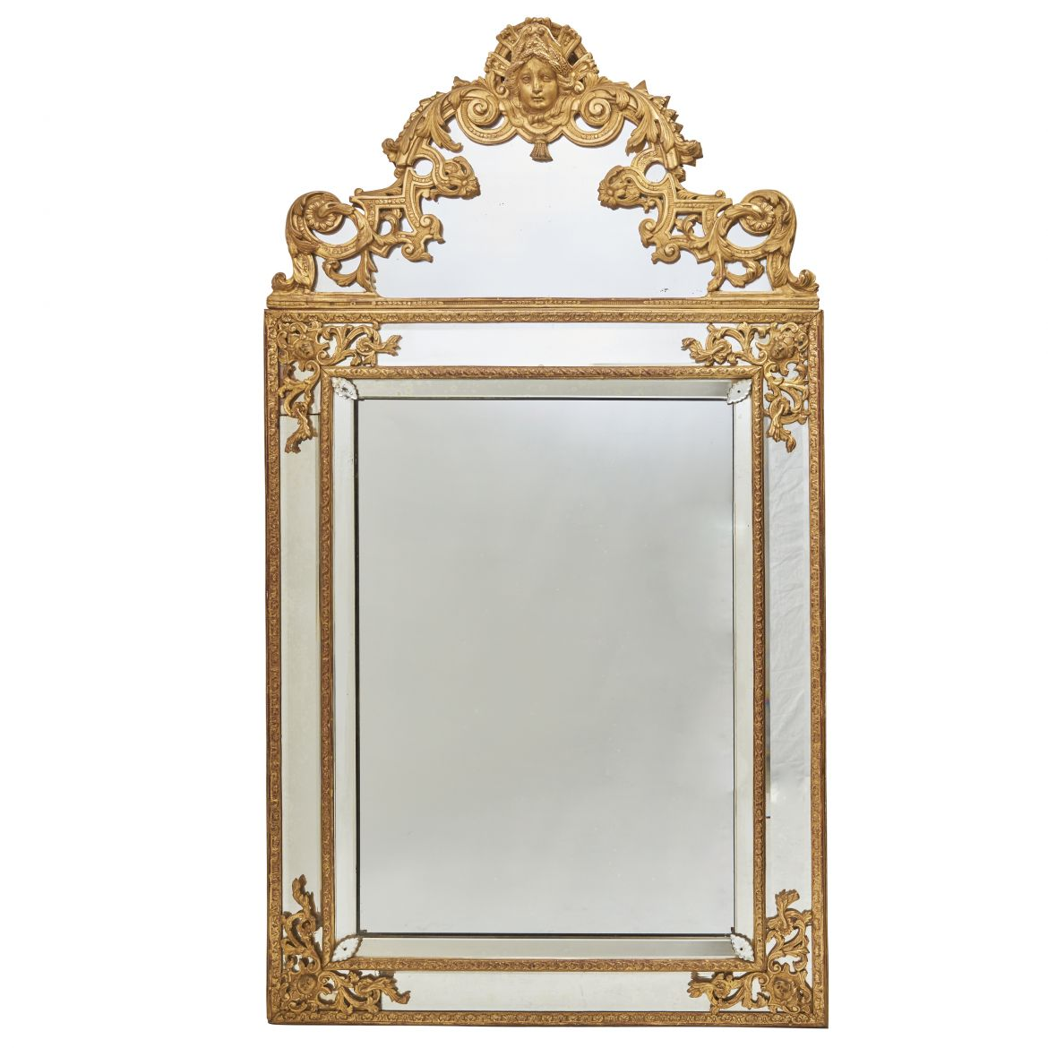 French Giltwood Mirror A Pareclose