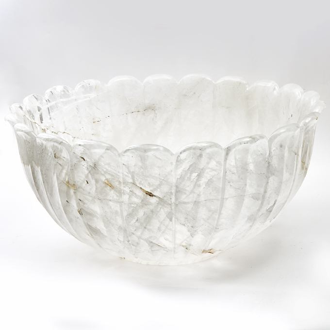 Monumental Rock Crystal Bowl