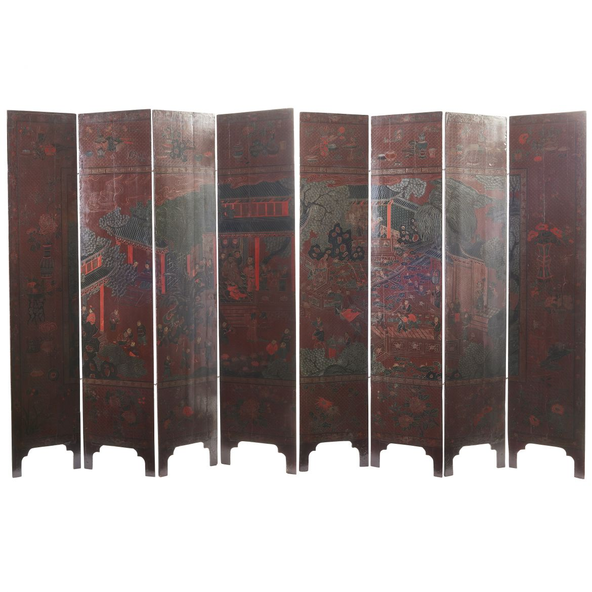 Chinese Eight Fold Coromandel Screen