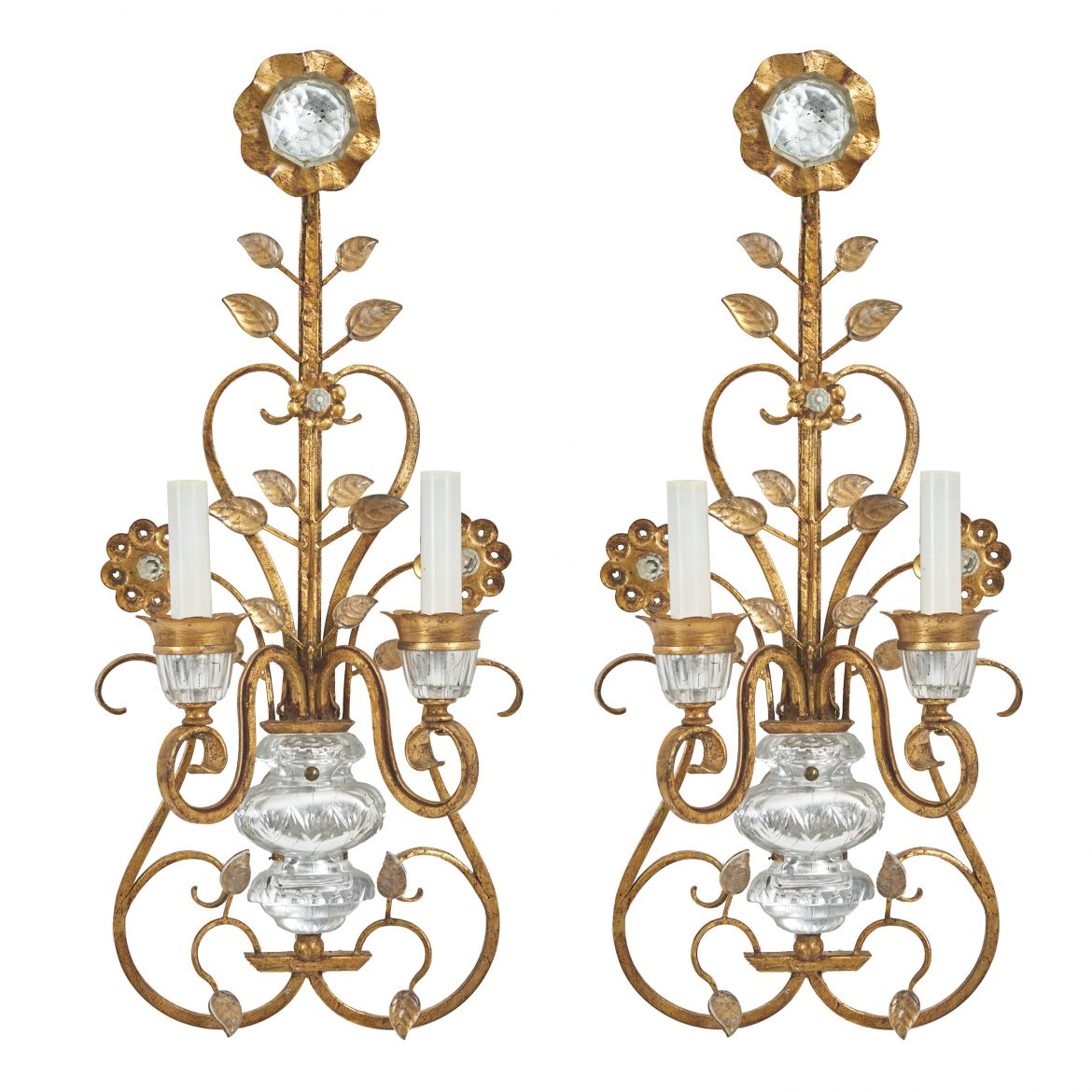 Pair French Bagues Style Sconces