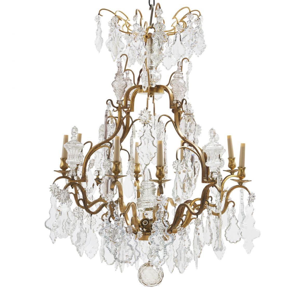 French Bronze Birdcage Chandelier