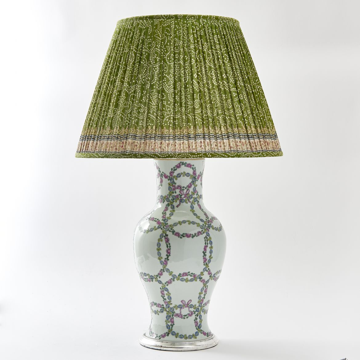 Chinese Floral Vase as Lamp