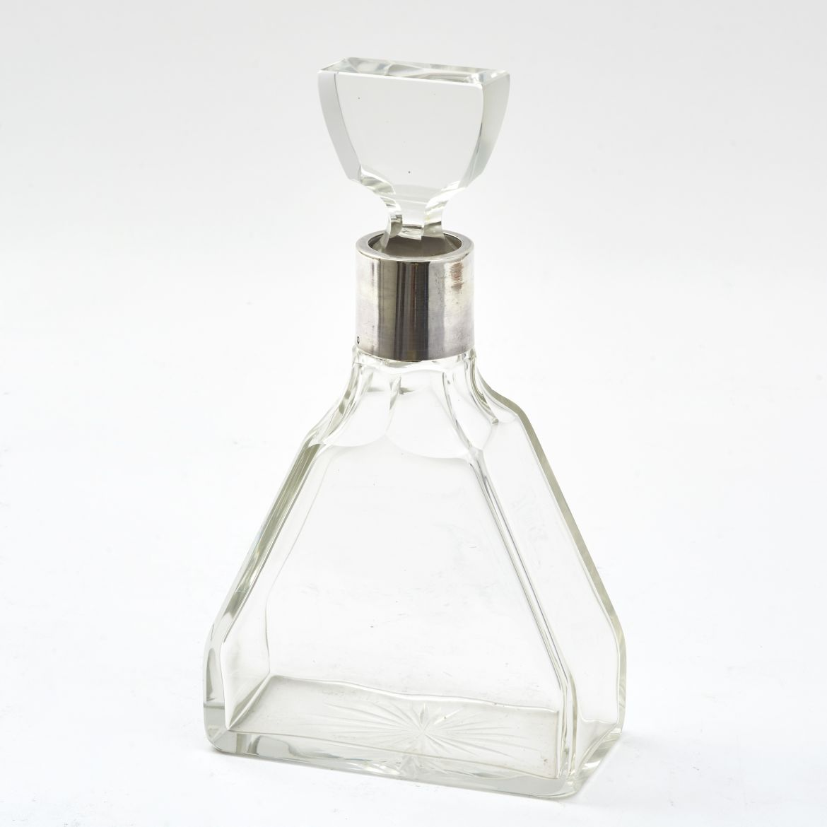 French Deco Triangular Decanter