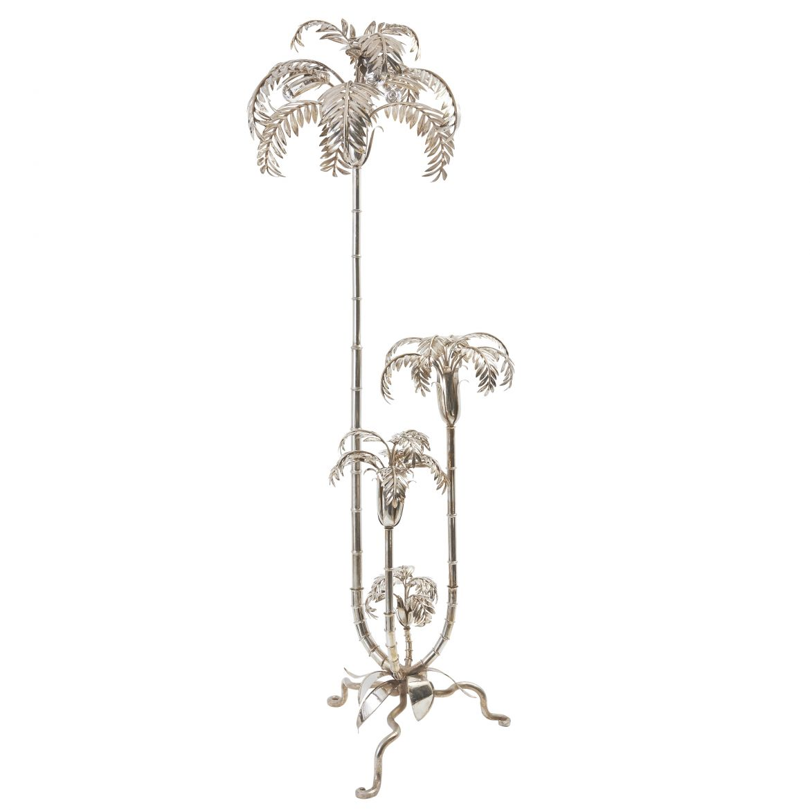 Palm Tree Lamp After Maison Jansen