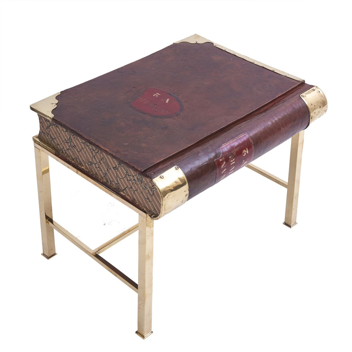 Leather Book Box Table
