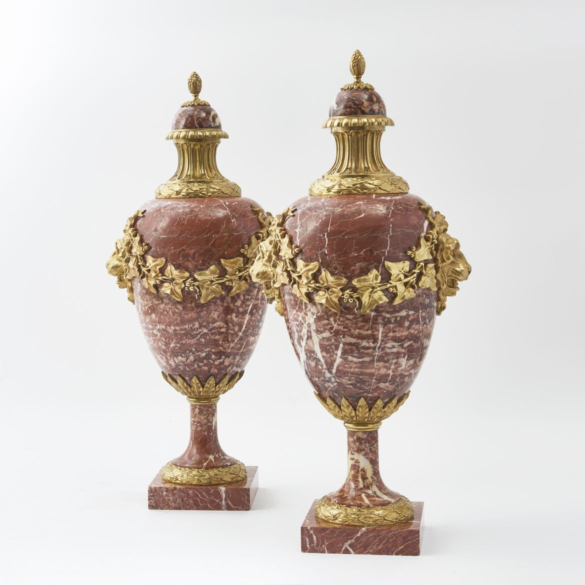 French Brocatelle Marble Cassolettes