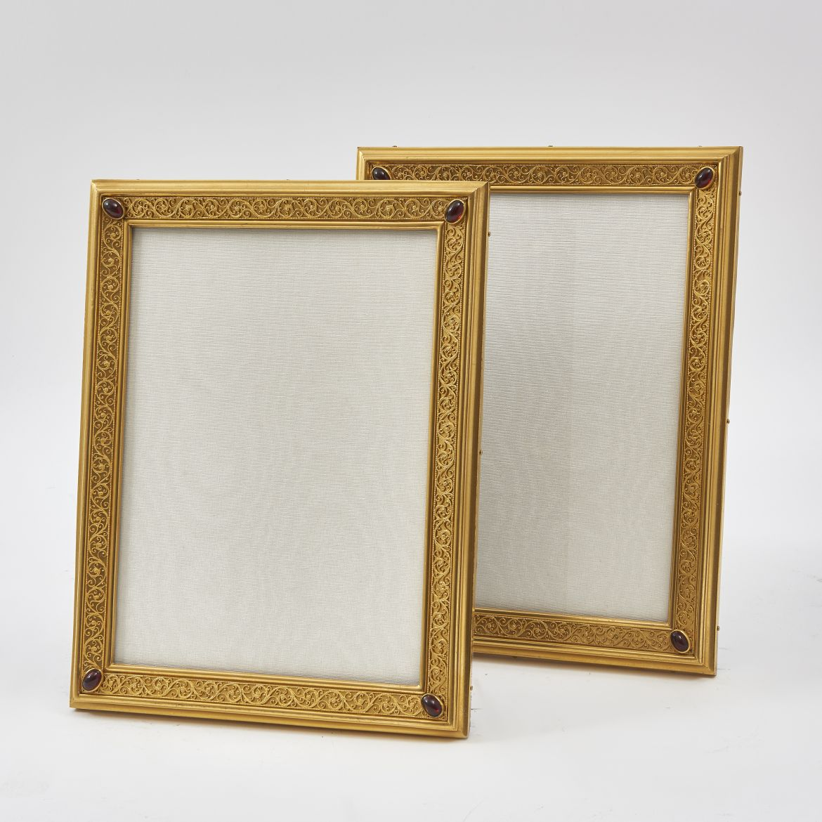 Pair Gilt Bronze Frames