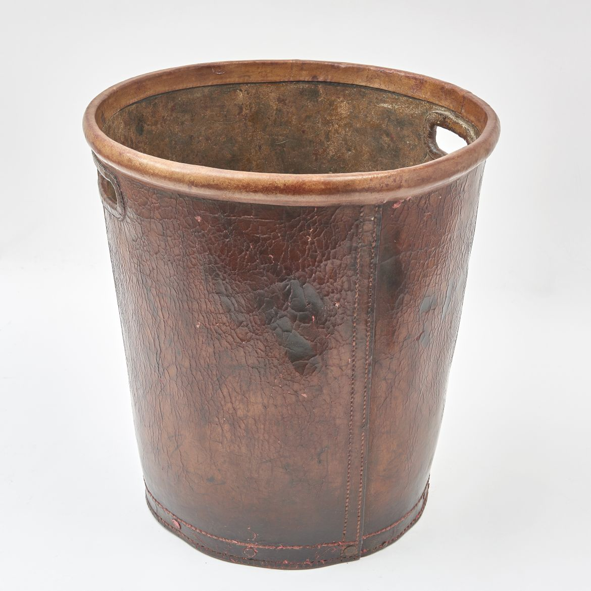 Leather Peat Bucket