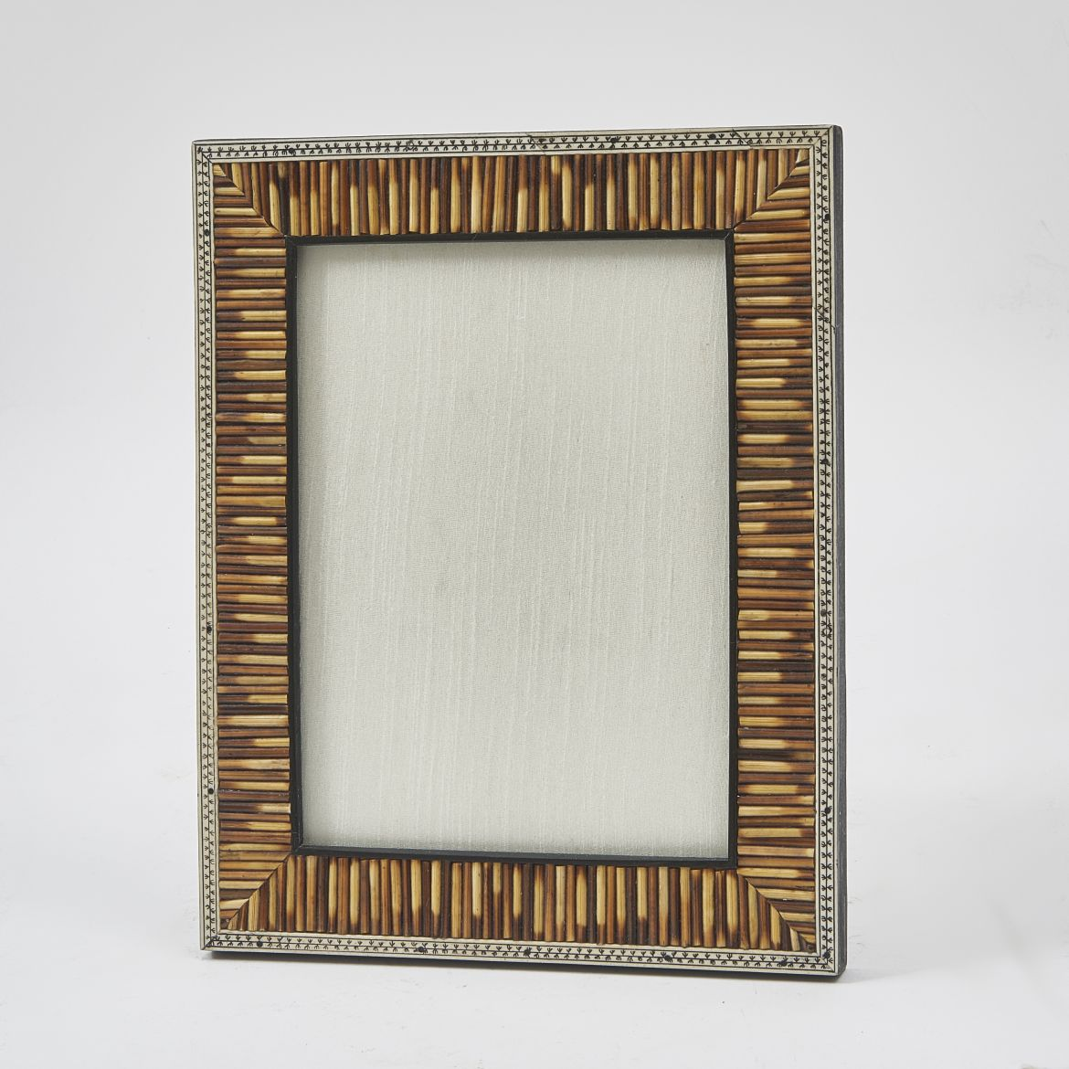 Antique Porcupine Quill Photo Frame