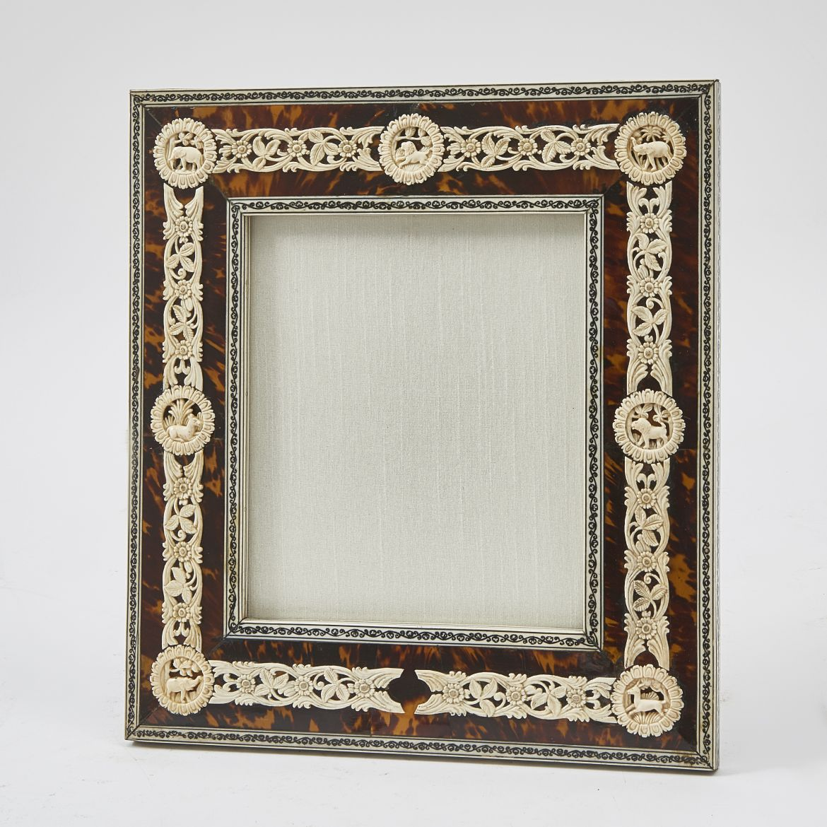 Tortoiseshell And Carved Bone Frame