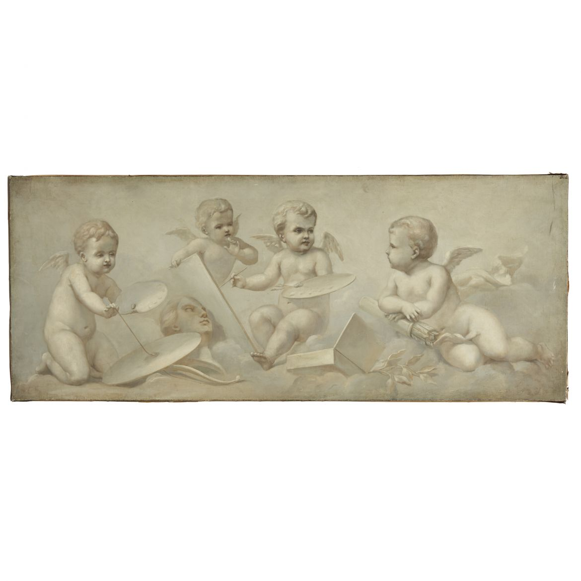 French En Grisaille of Cherubs