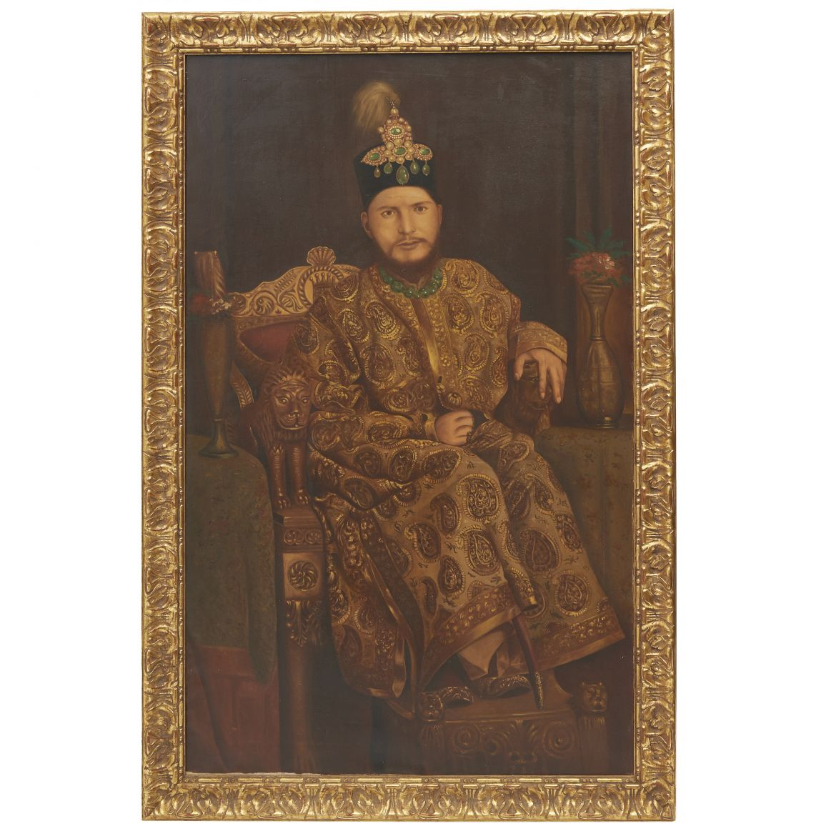 Oil Painting Of A Maharaja