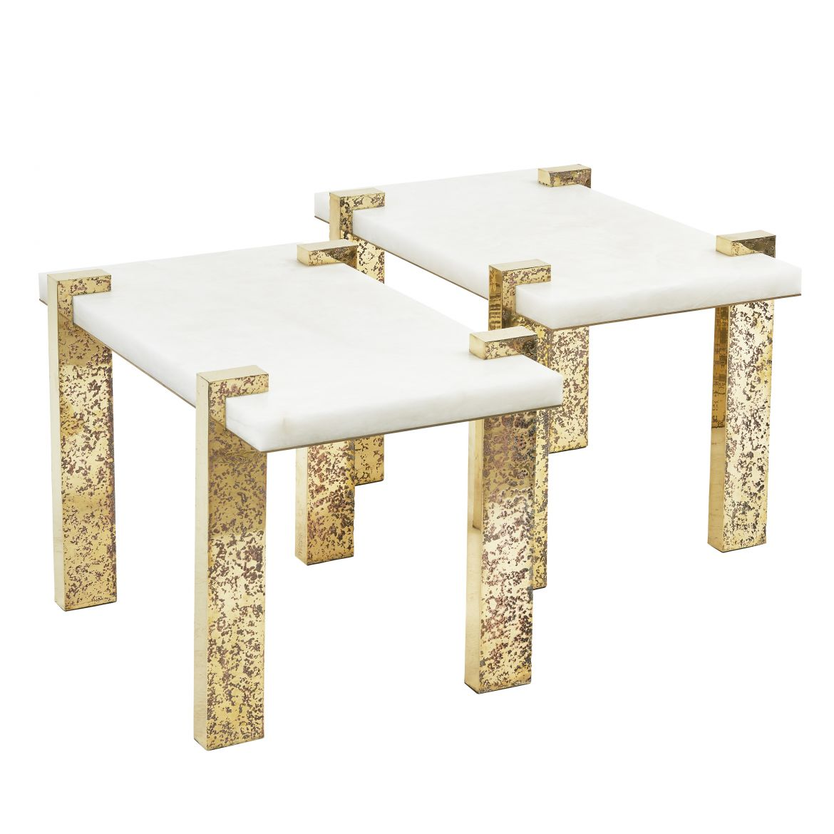 Alabaster tables by Arriau