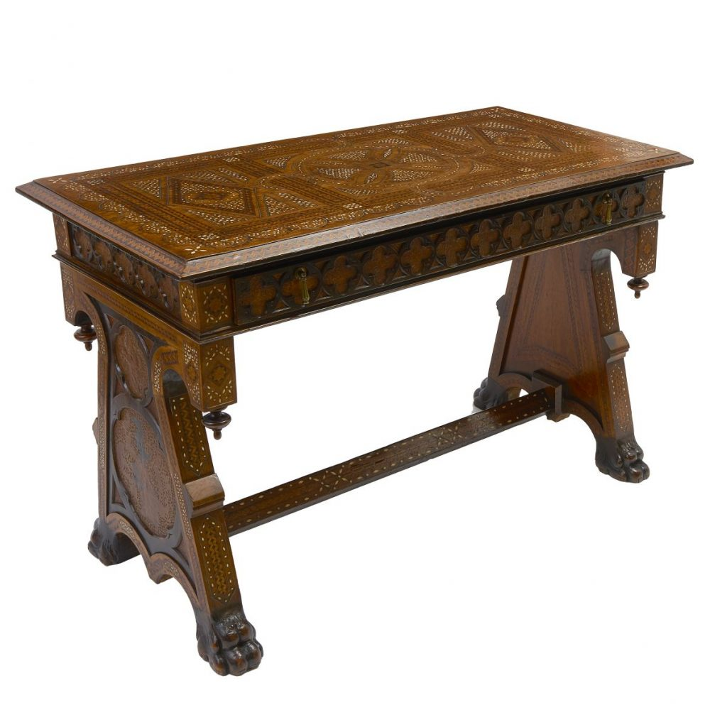 Italian Intarsia Inlaid Table