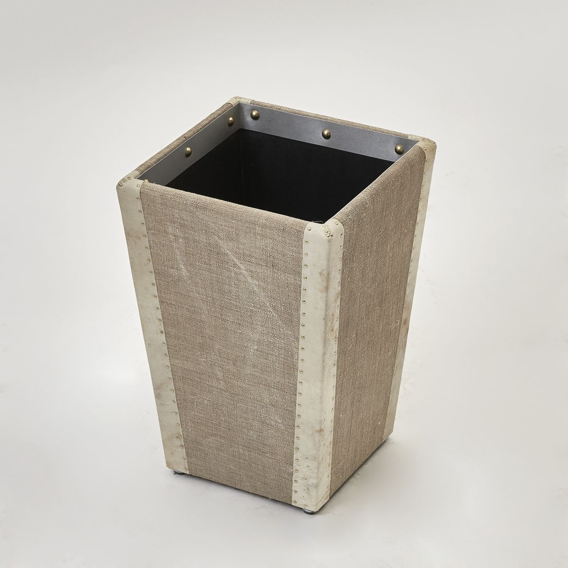 Linen and Vellum Waste Paper Basket
