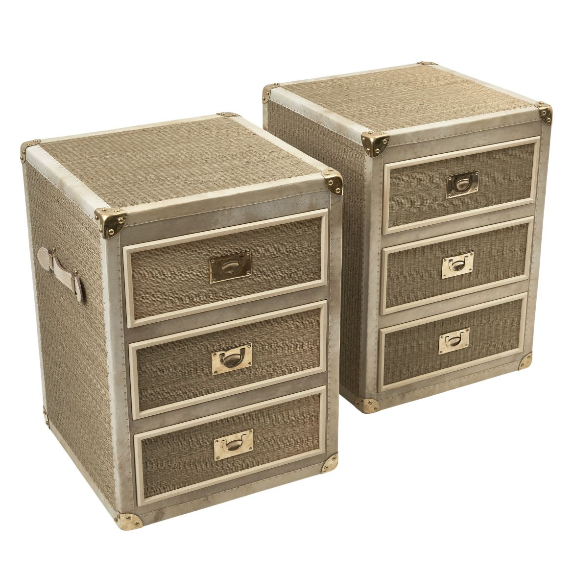 Rattan and Vellum Bedside Drawers