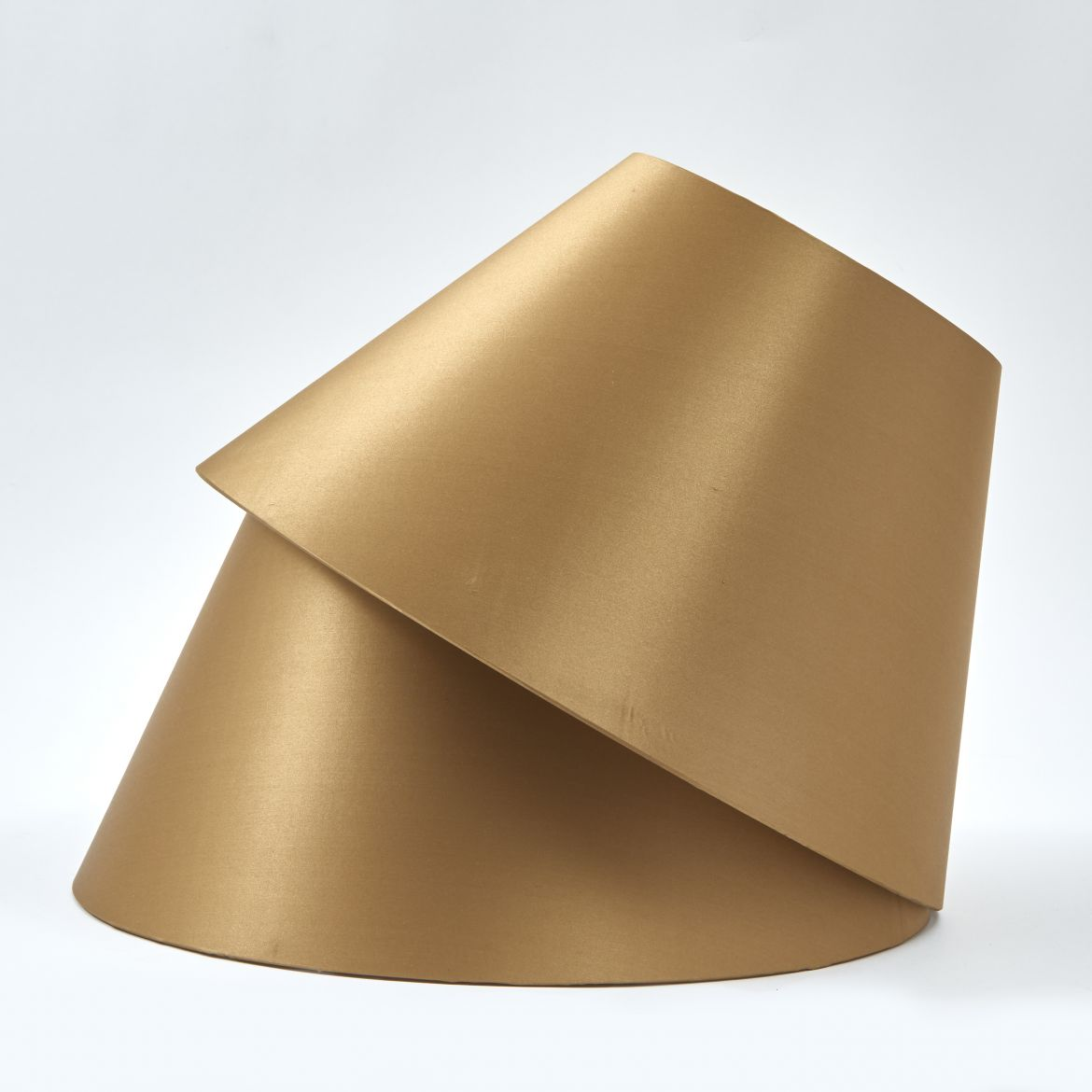 Gold Silk on Card Shades