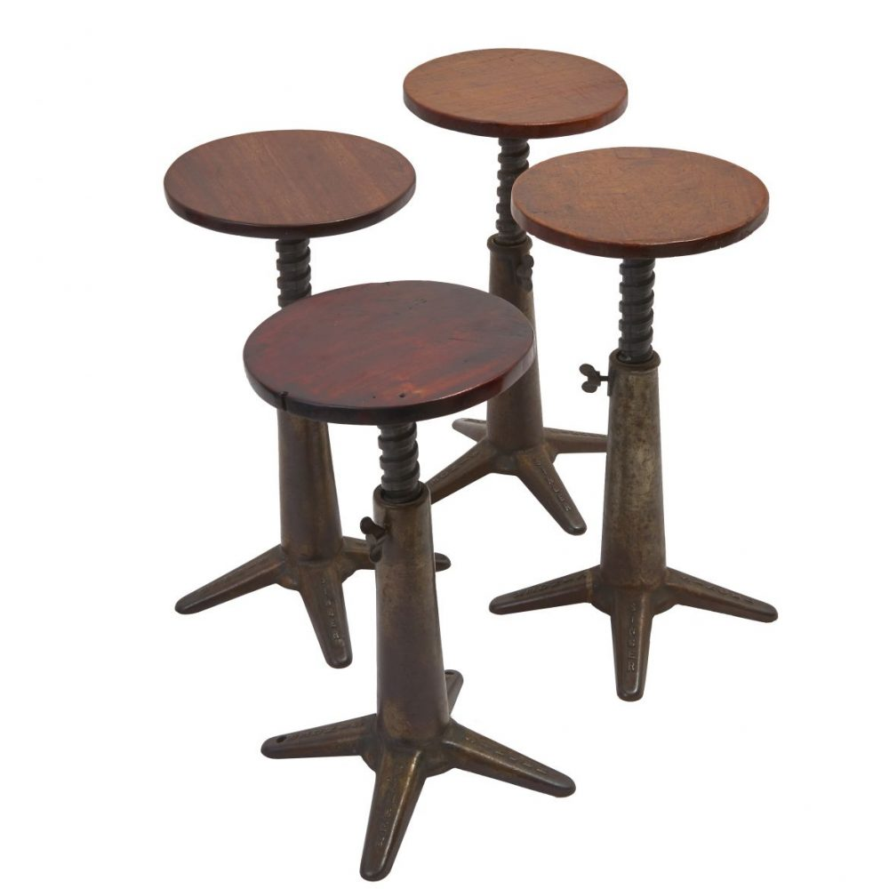 Four 1930s Singer Stools