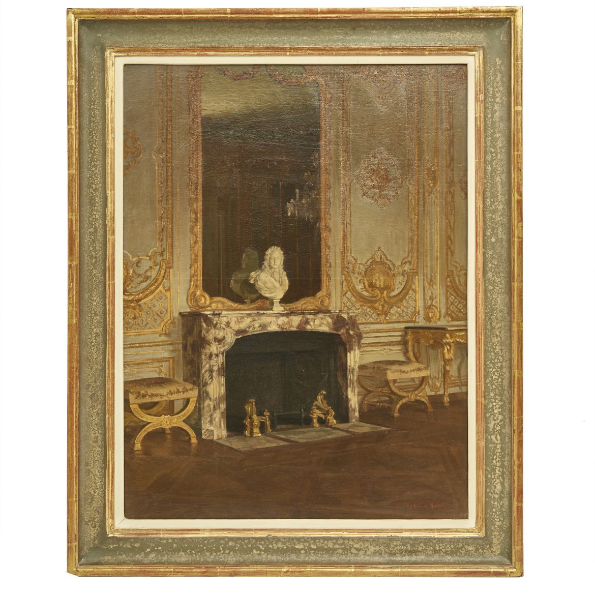 Madeleine Meunier Painting of Interior