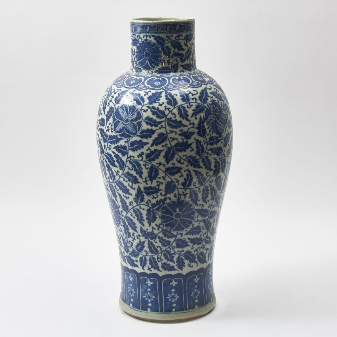 Chinese Ming Style Blue and White Vase