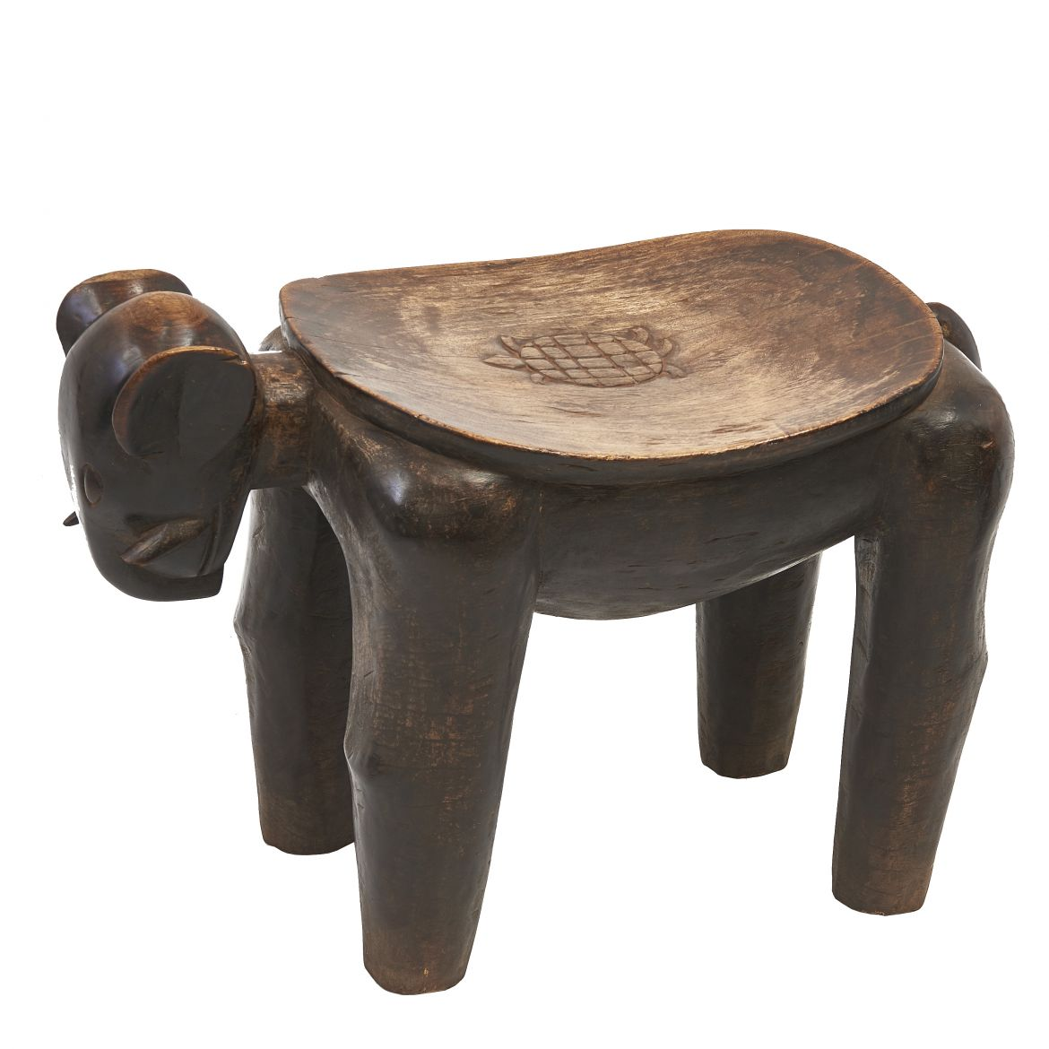 Rare Elephant Shaped Nupe Stool