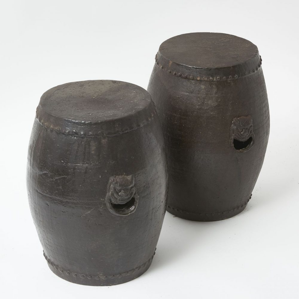 Chinese Brown Glaze Stools