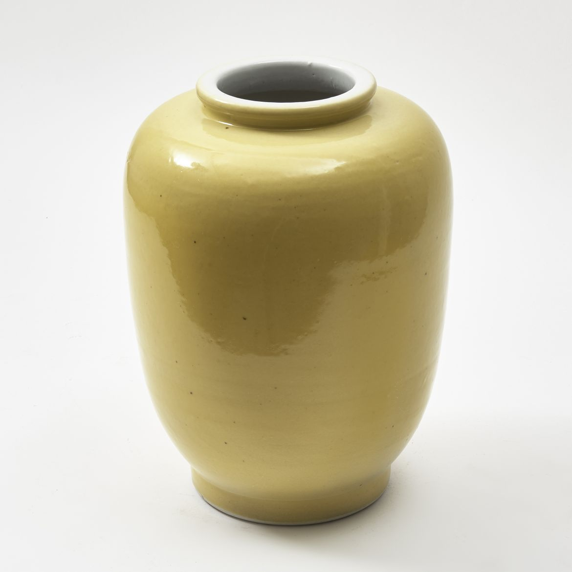 Chinese Yellow Porcelain Jar