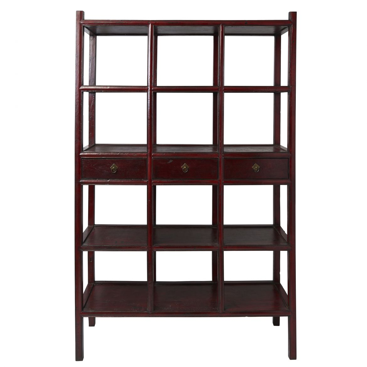 Chinese Red Lacquer Bookcase