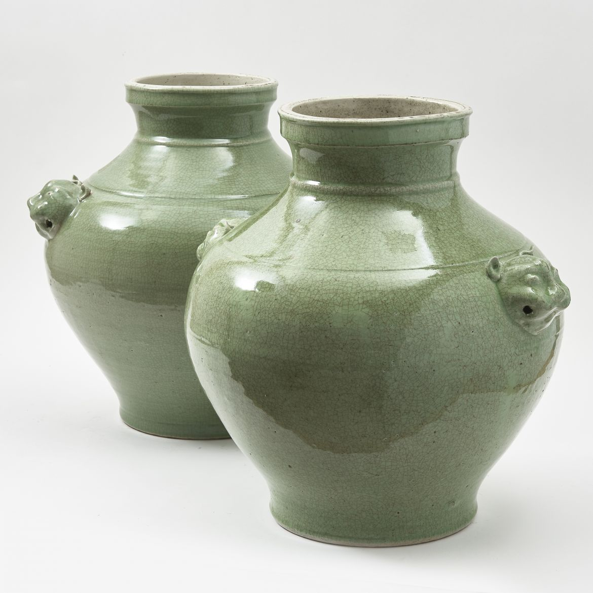 Chinese Vases With Foo Dog Handles