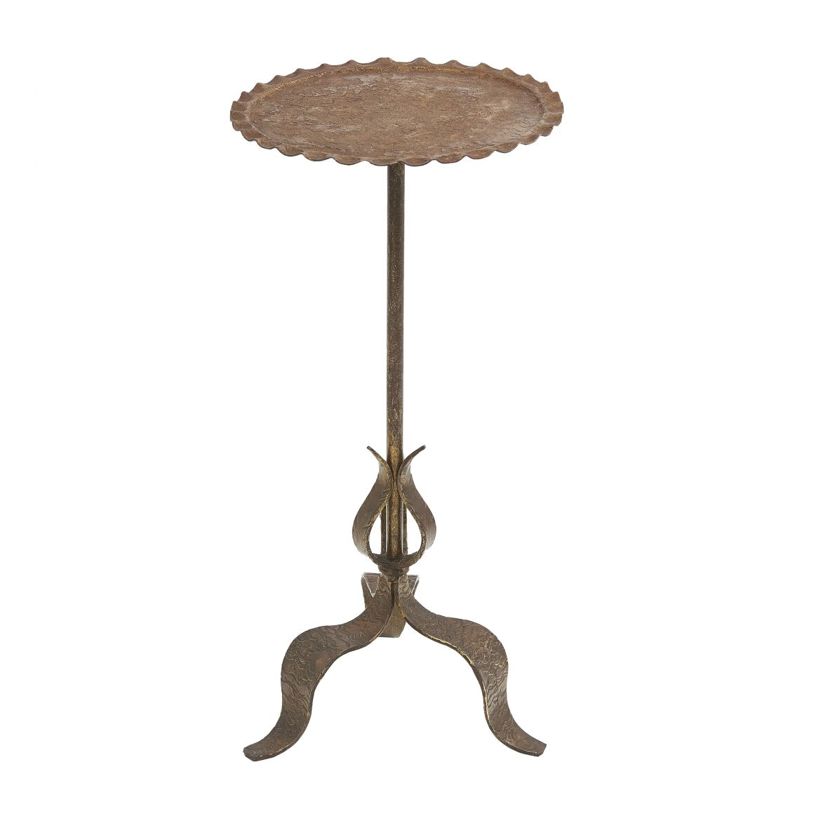Martini Table With Brown Patina