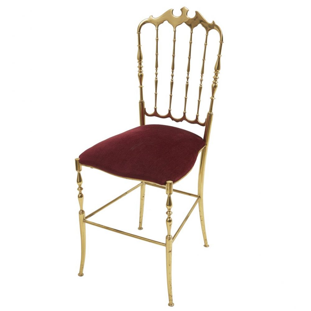 Italian Brass Chiavari Chair