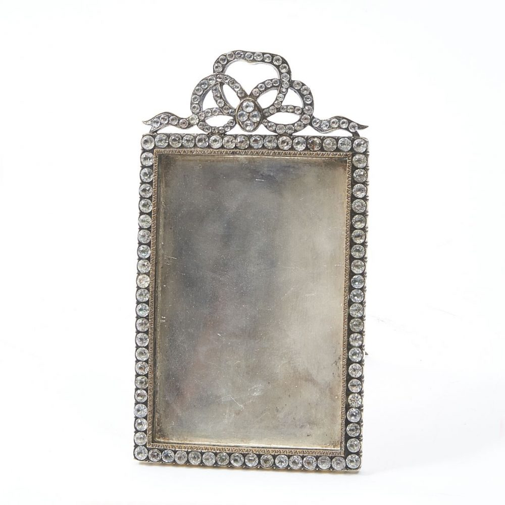French Paste And Silver Plate Frame